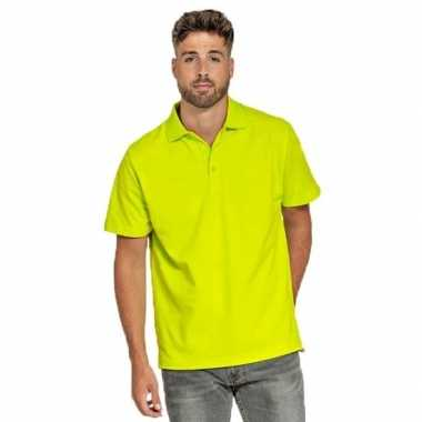 Polo shirt neon geel heren