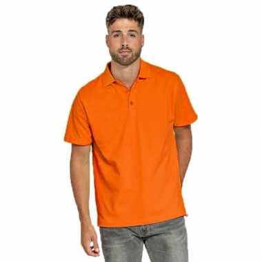 Polo shirt oranje heren