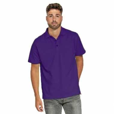 Polo shirt paars heren