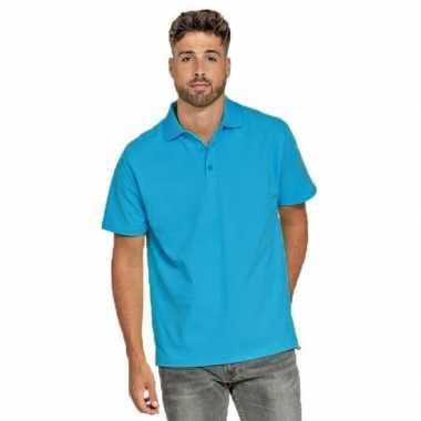 Polo shirt turquoise heren