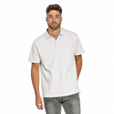 Polo shirt wit heren