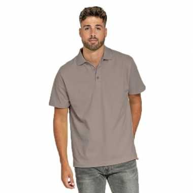 Polo shirt zilvergrijs heren