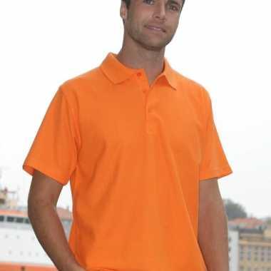 Poloshirt basic oranje