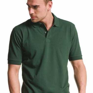 Poloshirt heren donkergroen