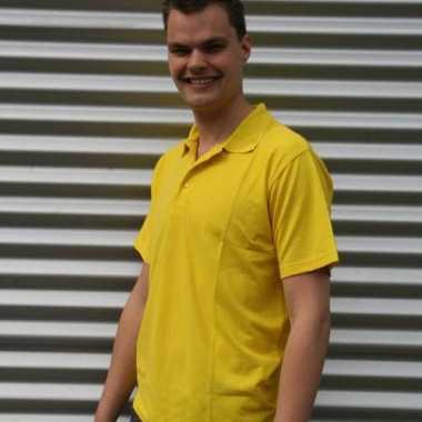 Poloshirt heren geel