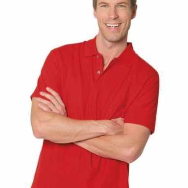 Poloshirt heren rood