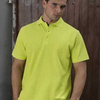 Poloshirt lemon geel