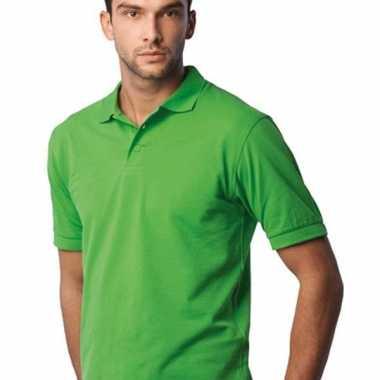 Poloshirts heren lime groen