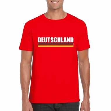 Rood duitsland supporter t shirt heren