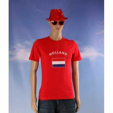 Rood heren t shirt holland