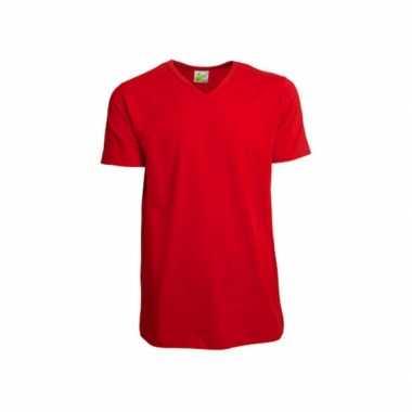 Rood heren t shirt v hals