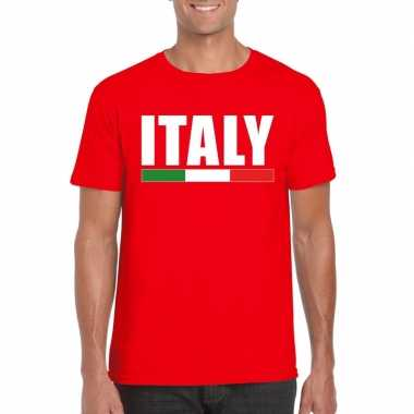 Rood italie supporter shirt heren
