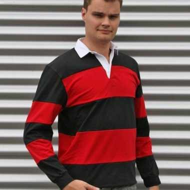 Rugby shirt zwart rood