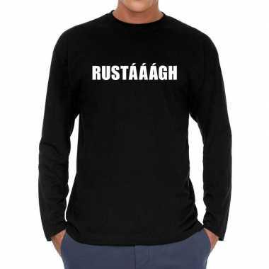 Rustaaagh long sleeve t shirt zwart heren