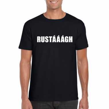 Rustaaagh tekst t-shirt zwart heren