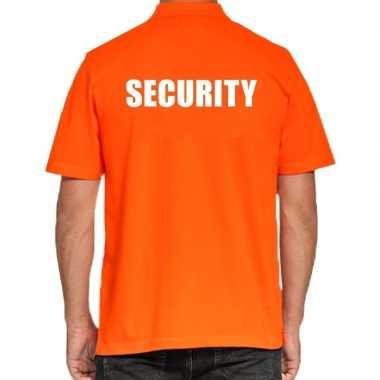 Security poloshirt oranje heren