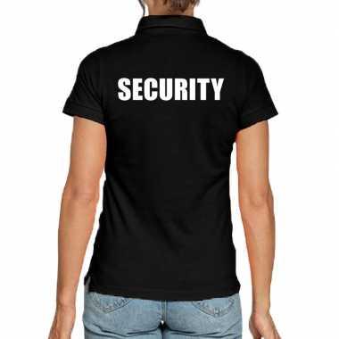 Security poloshirt zwart dames