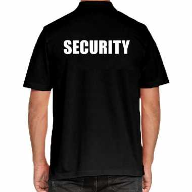 Security poloshirt zwart heren
