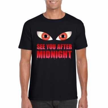 See you after midnight halloween vampier t shirt zwart heren