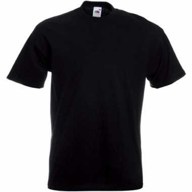 Set stuks grote maten basic zwart t shirts heren, maat: xl (/)