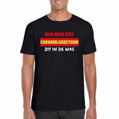 Sexy carnavalskostuum zit was heren t-shirt zwart