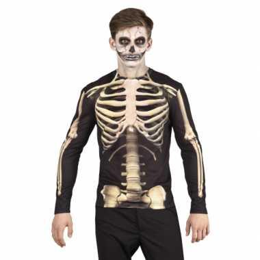 Shirt skelet kleding opdruk heren