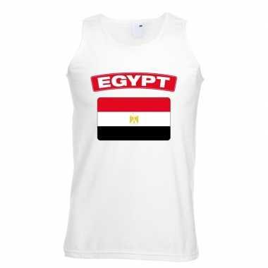 Singlet-shirt tanktop egyptische vlag wit heren