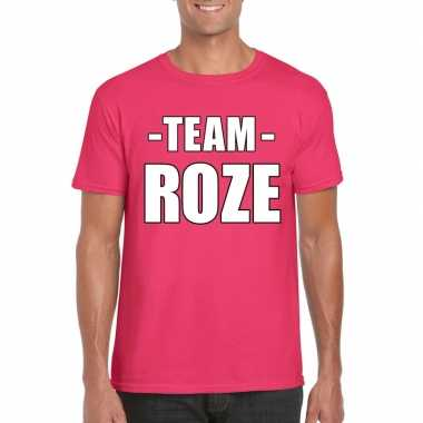 Sportdag team roze shirt heren