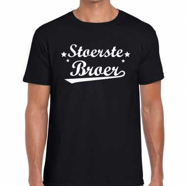 Stoerste broer cadeau t shirt zwart heren