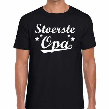 Stoerste opa cadeau t shirt zwart heren