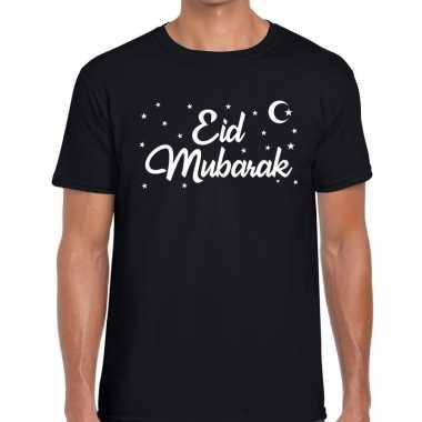 Suikerfeest eid mubarak t shirt zwart heren