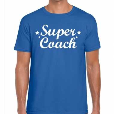 Super coach cadeau t shirt blauw heren