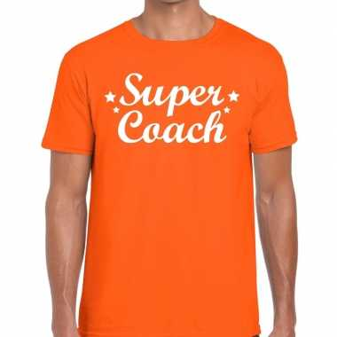 Super coach cadeau t shirt oranje heren