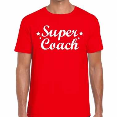 Super coach cadeau t shirt rood heren