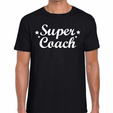 Super coach cadeau t shirt zwart heren