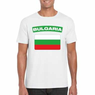 T shirt bulgaarse vlag wit heren