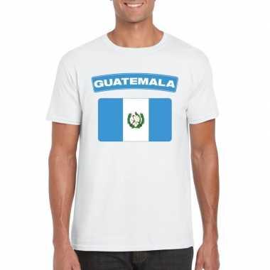 T shirt guatemalaanse vlag wit heren