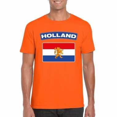 T shirt hollandse vlag oranje heren