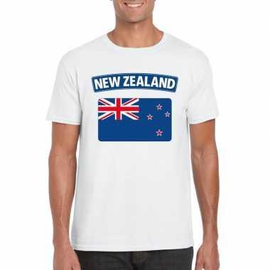 T shirt nieuw zeelandse vlag wit heren