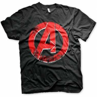 The avengers t shirt zwart heren