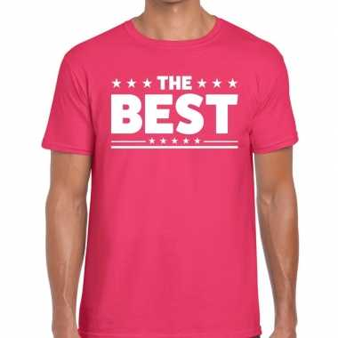 The best tekst t shirt roze heren