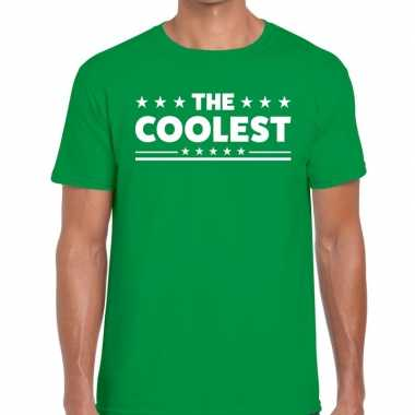 The coolest tekst t shirt groen heren
