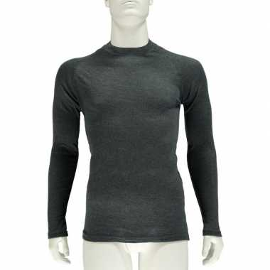 Thermo shirt antraciet lange mouw heren