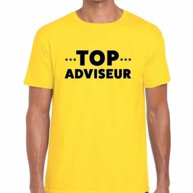 Top adviseur beurs/evenementen t shirt geel heren