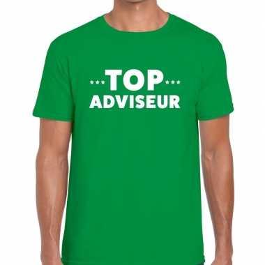 Top adviseur beurs/evenementen t shirt groen heren