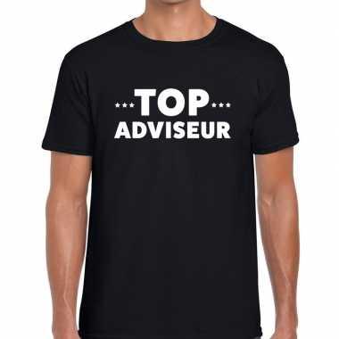 Top adviseur beurs/evenementen t shirt zwart heren