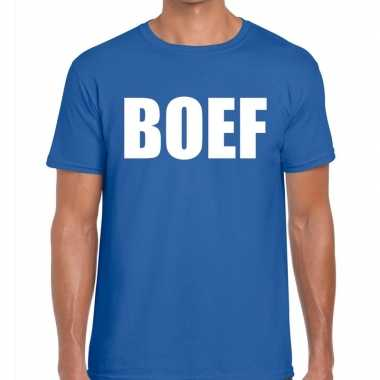 Toppers boef heren t shirt blauw