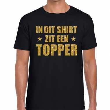 Toppers dit shirt zit een topper glitter tekst t shirt zwart heren