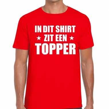 Toppers dit shirt zit een topper t shirt rood heren