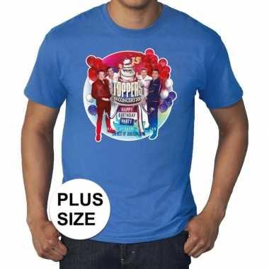 Toppers grote maten blauw toppers concert officieel shirt heren